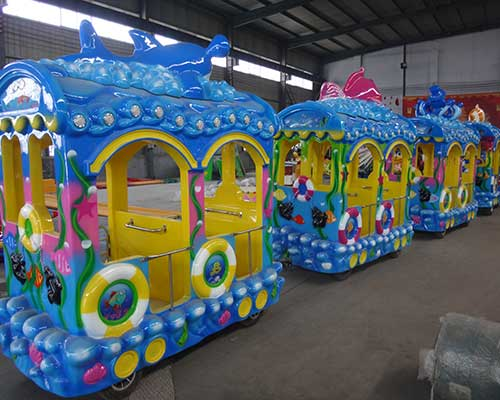 sea animal trackless train for sale cheap in Beston group