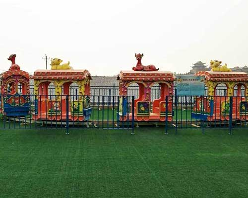 wholesale amusement park electric elephant train rides