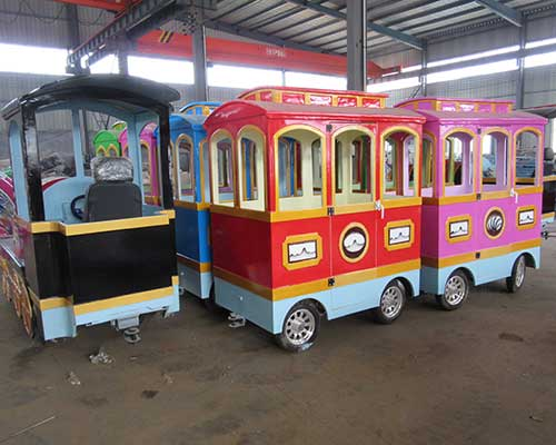 amusement park trackless train ride for sale in Beston