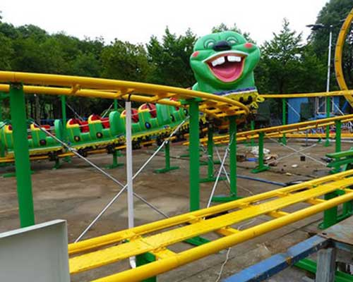 china amusements rides worm roller coaster rides